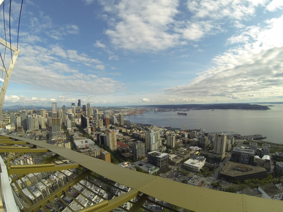 View of Seattle from top of the Space Needle