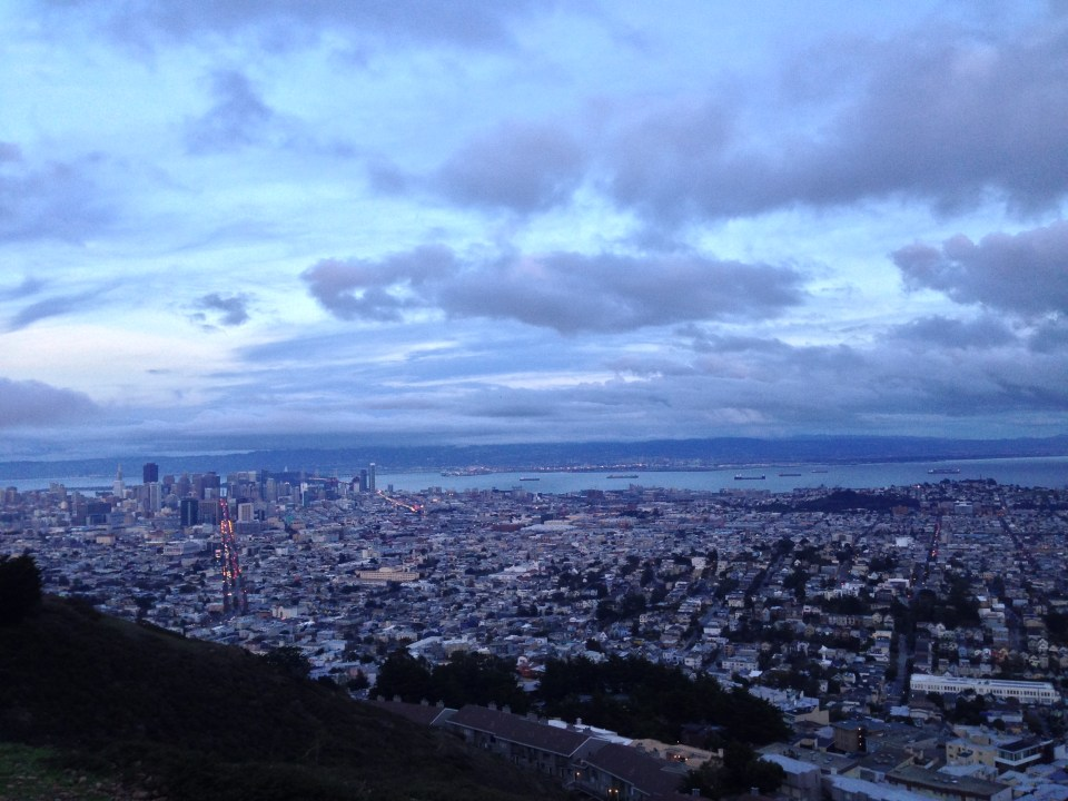 View of SF from Twin Peaks after sunset