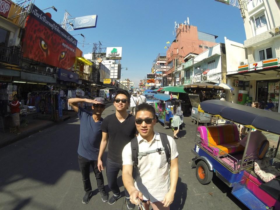The crew at Khao San Road in Bangkok