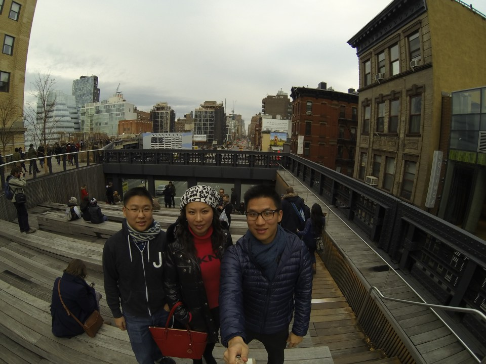 Group pic at The High Line in New York