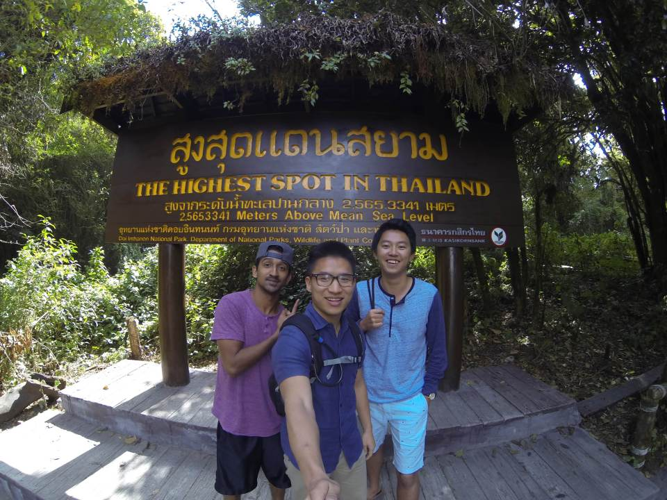 Standing at the top of the world, or Thailand actually, at Doi Inthanon