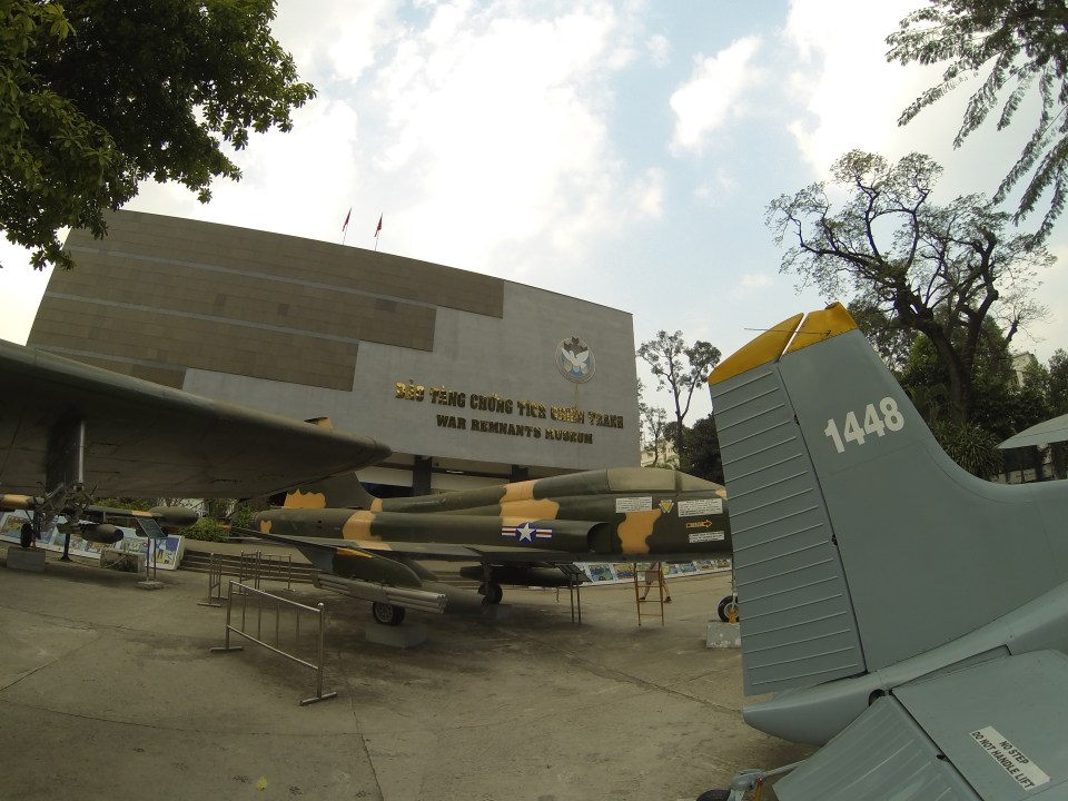 Airplanes at War Remnants Museum in Ho Chi Minh City