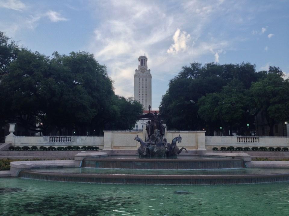 The beautiful UT Austin campus