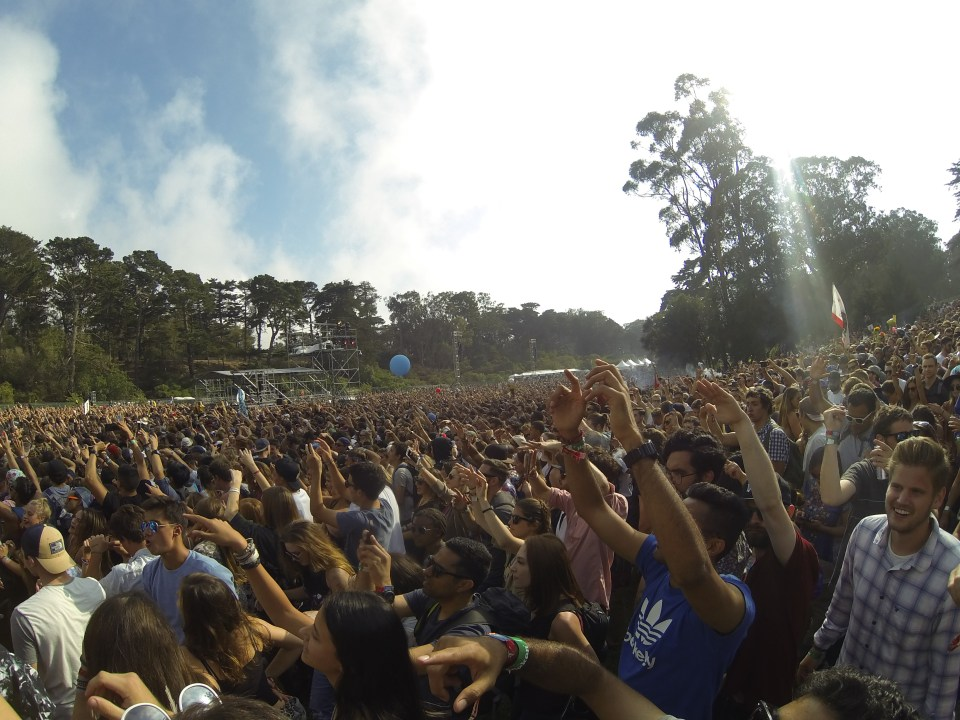 The crowds at Outside Lands 2015