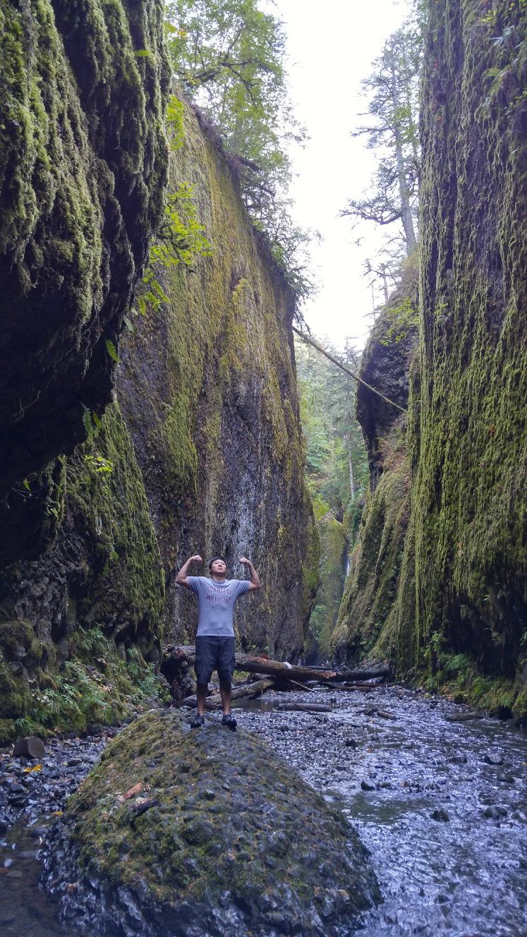 Conquering Oneonta Gorge (credit: Jonathan)