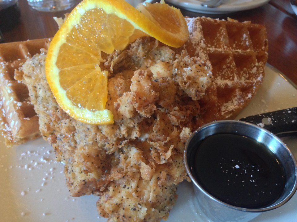 Chicken and waffles at Screen Door in Portland