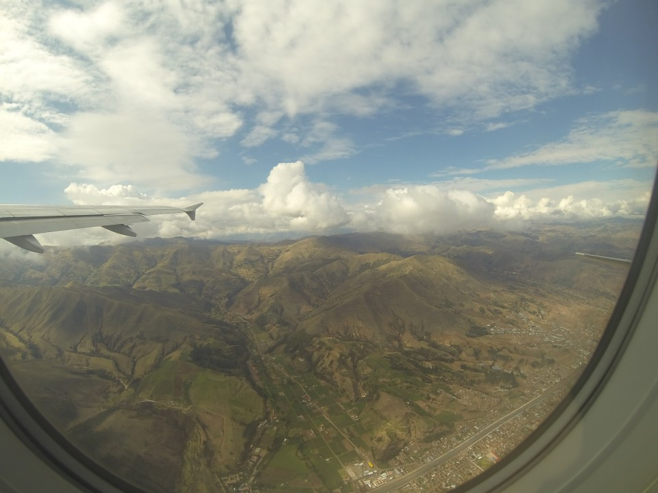 Cusco from the plane