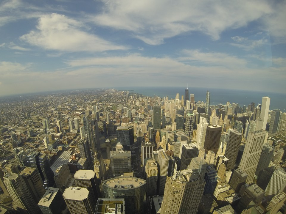 View of Chicago from Willis Tower