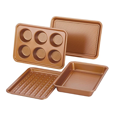 copper kitchen baking set