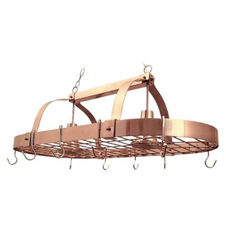 copper kitchen pot rack