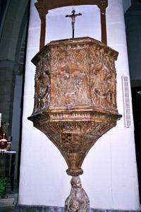 la chaire de l'église San Salvador