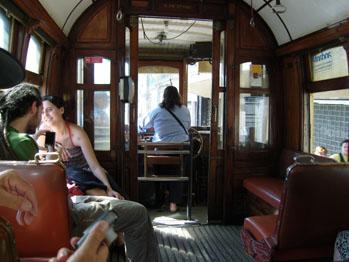 Intérieur du tram