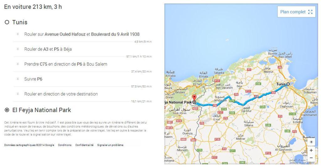 Voyage dans la nature de Ain Soltan Feija - route Tunis_Parc-Feija