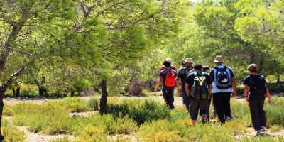 Sur les traces des berbères - randonneur dans foret
