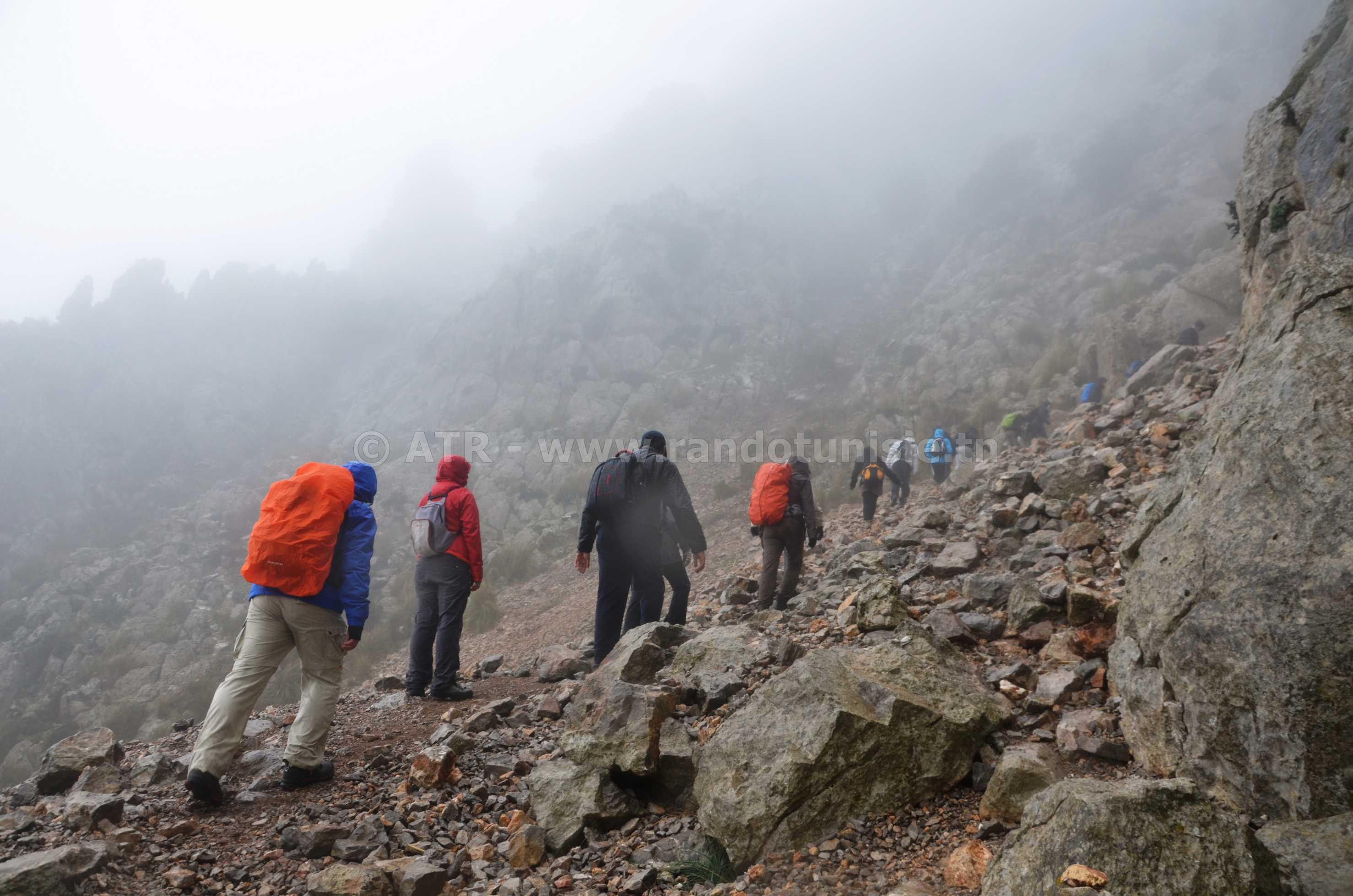 Circuit randonnée Ain Mzigh Zaghouan - vers le sommet