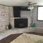 White wash fireplace Huntersville