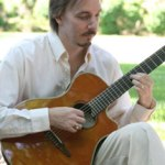 Randy Ellefson playing classical guitar, 2010