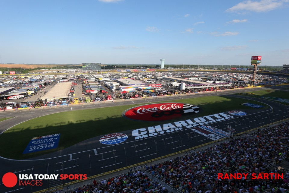 May 24, 2015; Concord, NC, USA; General view during the  NASCAR Coca-Cola 600 at Charlotte Motor Speedway. Mandatory Credit: Randy Sartin-USA TODAY Sports