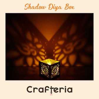 Crafteria Shadow Diya Box for Diwali