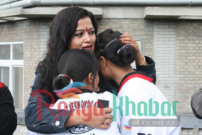 Rekha Thapa meets pooja's
