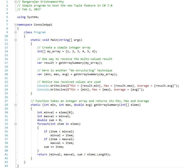 Multi-value Return in C#