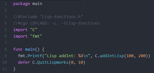 Lisp Call via LIB