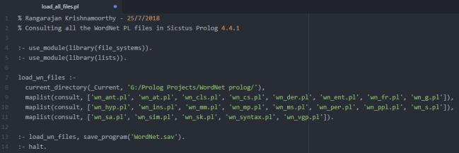 Creating WordNet Prolog Image