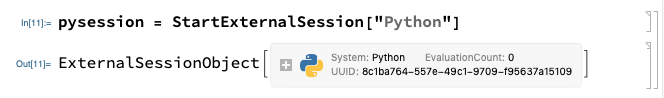 Starting a Python Session