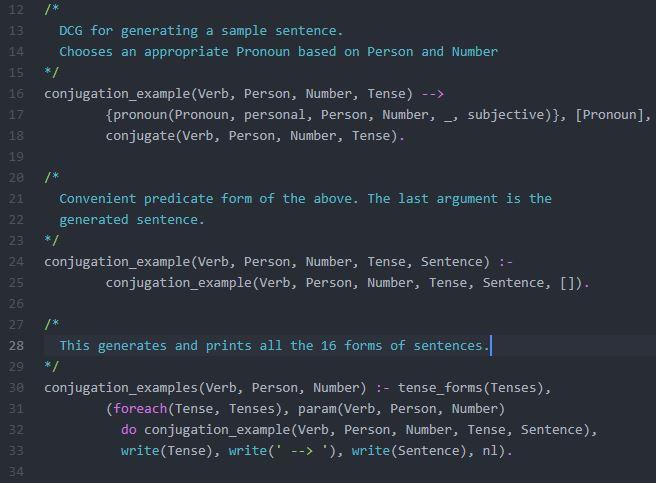 Prolog Code Fragment