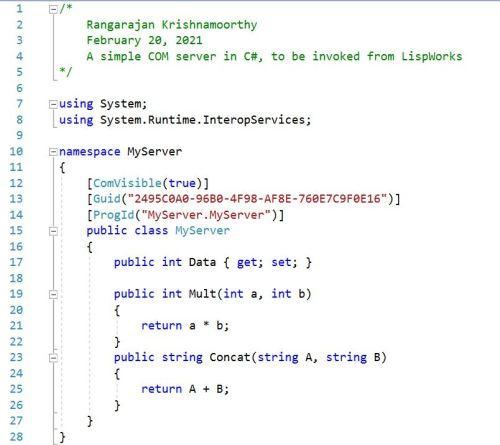 The COM Server in C#