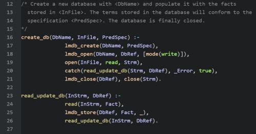 Code to Create New Database