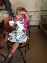Cutest ice cream fan of the day - actually working in her reading dragon apron!