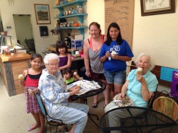 Multigenerational Ice Cream testers!