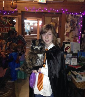 Best owl ever! Pretty sweet Griffindor costume too!