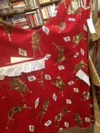 A handmade apron in fun prints,