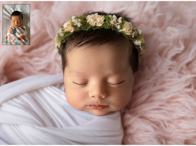 A bit of Photoshop magic used for this virtual newborn shot.