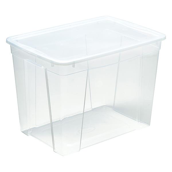 Bac De Rangement Plastique Avec Couvercle Xxl 61 Litres
