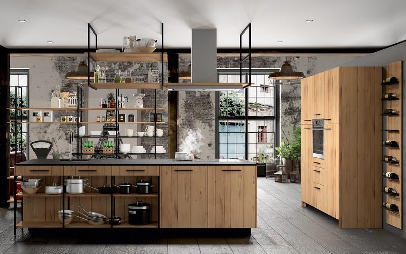 cuisine style industriel bois a nantes