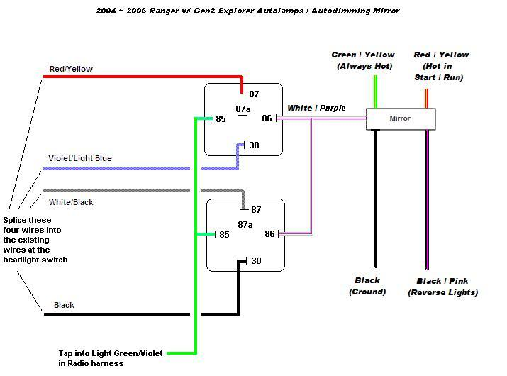 68670 how auto dimming mirror auto headlights 2004 2006autolamps?resize=665%2C493 2005 f150 radio wiring diagram wiring diagram,2004 Ford Edge Stereo Wiring