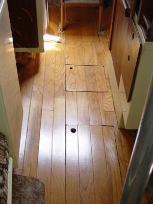 Lone Ranger's gorgeous wood floor!