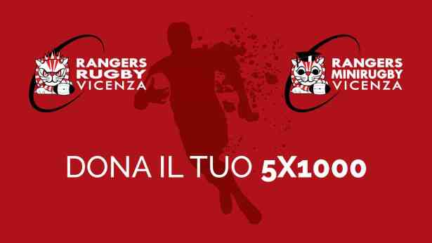 5x1000 al Rugby Vicenza