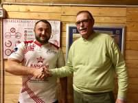 Ruslan Dorogan assieme al Presidente della Rangers Rugby Vicenza Augusto Fantelli