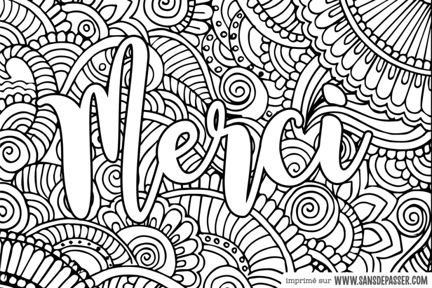 Coloriage Mandala Merci A Imprimer Range Tes Jouets