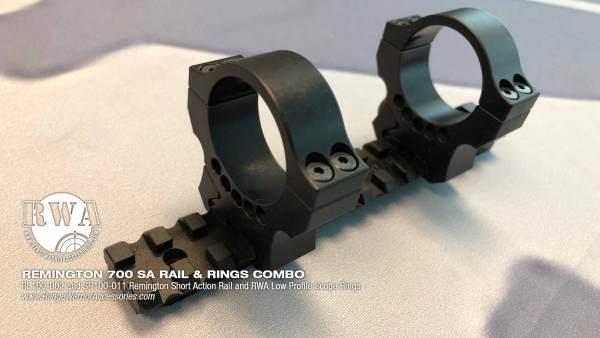Remington 700 SA Rail and Rings Combo