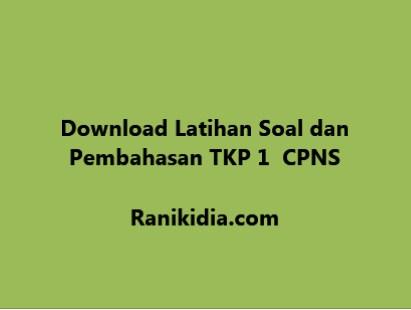 Download Latihan Soal Dan Pembahasan Tkp 1 Cpns 2019