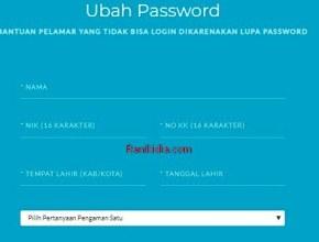 Solusi Bila Lupa Password Login SSCN BKN CPNS 2019