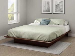Tempat Tidur Kayu Minimalis Model Pendek