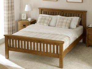 Tempat Tidur Jati Minimalis Modern Rustic