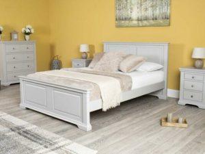 Tempat Tidur Minimalis Westcott Grey Queen