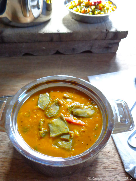 Broad beans sambar recipe